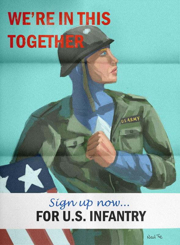 Captain America Recruitment Poster